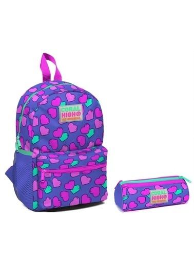 Yaygan Coral High Kalpler Baskılı Kız Çocuk Yuva Ve Anaokulu Çanta Seti Renkli